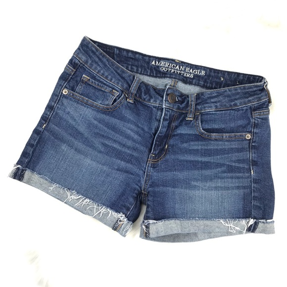 American Eagle Outfitters Pants - American Eagle Stretch Denim Cuffed Jean Shorts